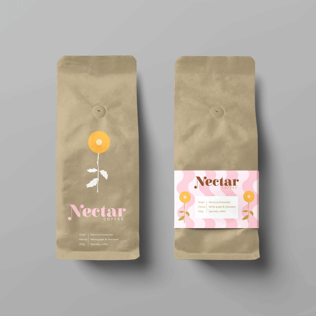 Paige-Digital-branding-Nectar-Coffee-Bags
